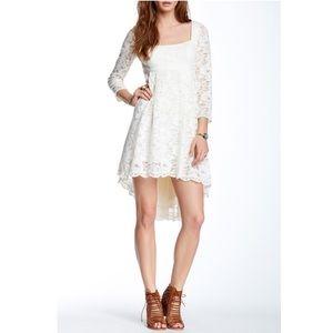 Free People Cream Lace Trianon Dress SZ 8